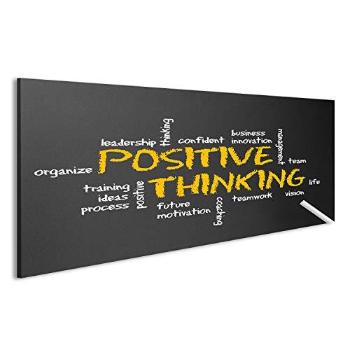 Bild Bilder auf Leinwand Positives Denken Motivation Illustration Wandbild Leinwandbild Poster