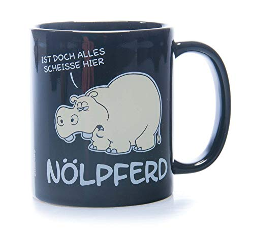 Tasse Kaffeebecher mit Motiv/Spruch 'Nölpferd' Höhe: ca. 9,7 cm, Ø ca. 8,2 cm Material: Keramik Füllmenge: 300 ml Tasse im Geschenkkarton