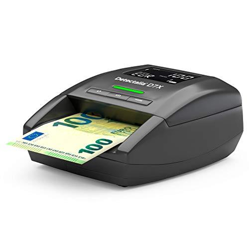 Detectalia D7X - Automatisches Falschgeld Prüfgerät zur 100% Sicherheit, 14 x 12 x 6 cm