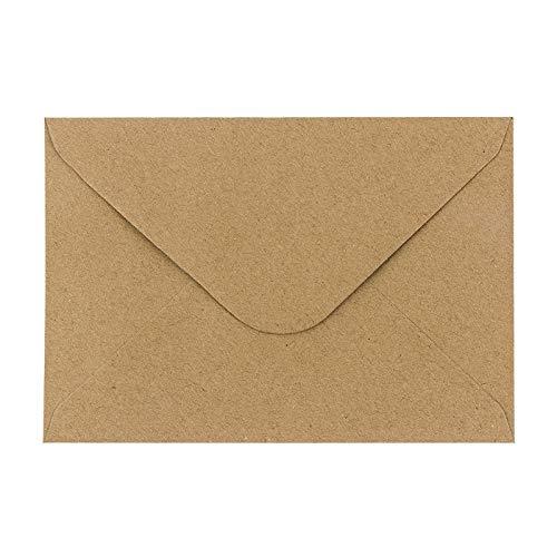 Kraftpapier Umschläge, 100 Stück   hohe Qualität: 110 g/m²   Briefumschläge, Kuvert, Briefkuvert, Briefhülle für Grußkarten, Einladung, Geburtstagskarten (DIN C6   11,4 x 16,2 cm)
