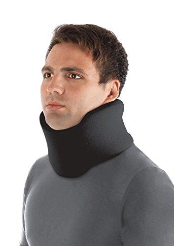 Halskrause Nackenstütze Erholung Halskrawatte Zervikalstütze - Einstellbarer - Weich, 100% Baumwollgewebe - Entlastet Wirbelsäule, Muskel, Gelenkdruck Large Schwarz
