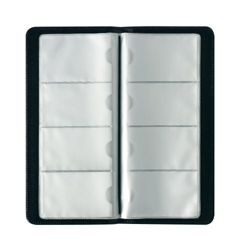 Herlitz Visitenkartenmappe für 128 Visitenkärtchen in schwarz