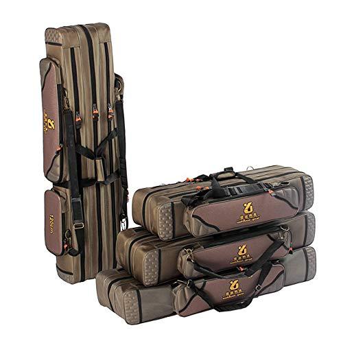 Lixada 3 Schicht Angelrute Tasche Angelrute Werkzeuge Aufbewahrungstasche Angelausrüstung Angelgerät Tasche,Rutentasche Rod Case für Angelruten, Kescher und Rutenhalter,80/90/100/120 cm(optional)
