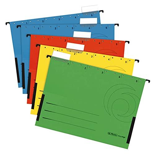 Herlitz 5874755 Hängetasche farbig sortiert 5er Packung
