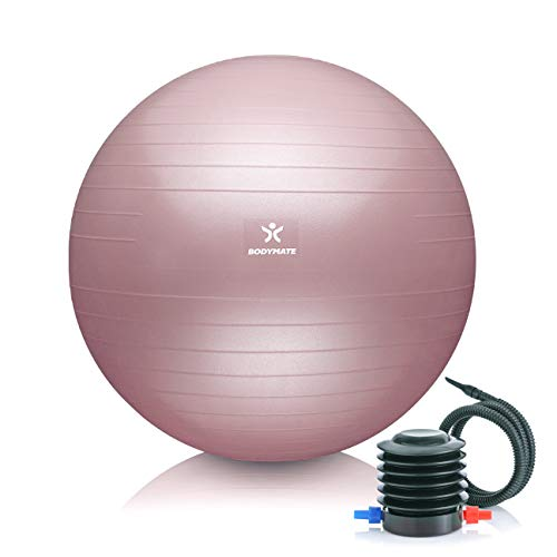 BODYMATE Gymnastikball Sitzball Trainingsball mit GRATIS E-Book inkl. Luft-Pumpe,...