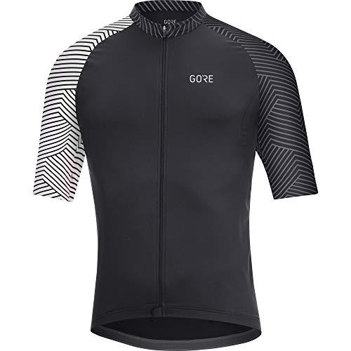 GORE Wear C5 Herren-Kurzarmtrikot, M, Schwarz / Weiß