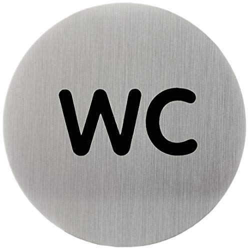 WC-Piktogrammschild in metallic silber