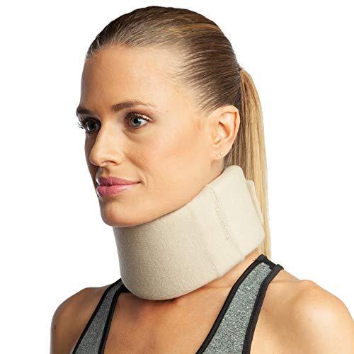 ArmoLine Halskrause - Halsbandage - Schaum Nackenstütze - Cervicalstütze - Nackenbandage (L (38-40 cm))