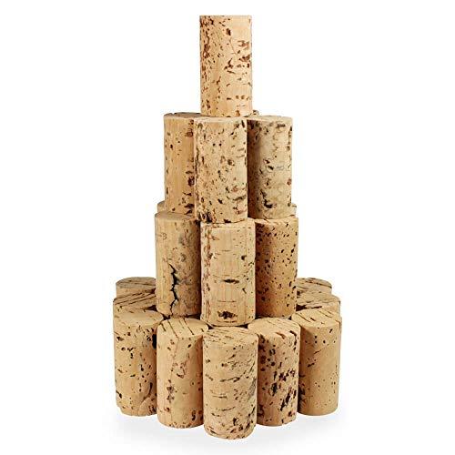 Tuuters 100 Bastelkorken, Medizin-korken, Weinkorken, Länge = 45 mm, ⌀ = 24 mm ✪ Sonderposten ✪ (45x24mm)