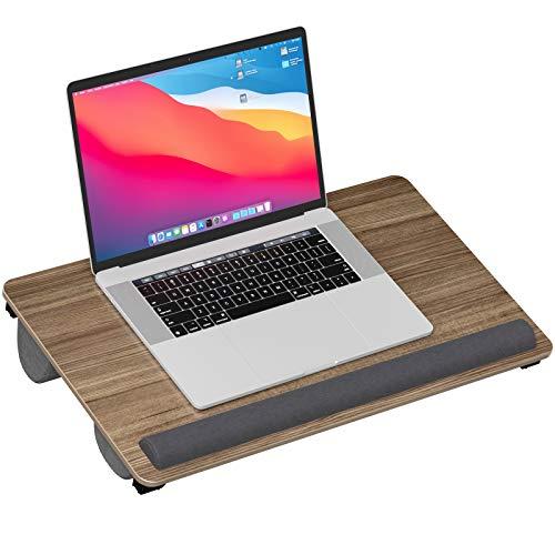ATUMTEK Laptoptisch 2-in-1 Betttisch Lapdesk, passt zu 17 Zoll Laptops Betttablett, mit Handgelenkauflage aus Memory-Schaum Notebooktisch für Heimbüro und Arbeiten