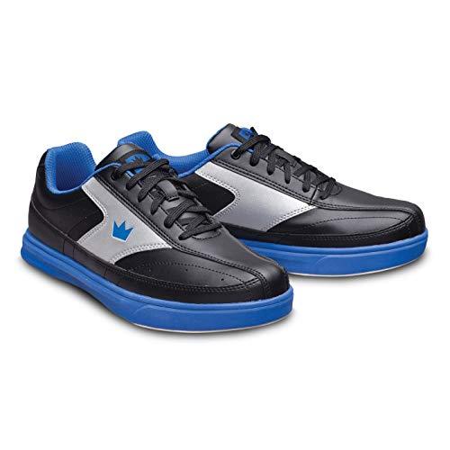 Bowling-Schuhe, Brunswick Renegade, Damen und Herren, für Rechts- und Linkshänder in 4 Farben Schuhgröße 38-47 (Schwarz/Blau, Numeric_42_Point_5)