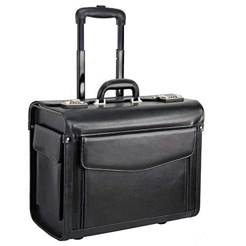 Dermata Pilotenkoffer Businesstrolley 45.5 cm schwarz