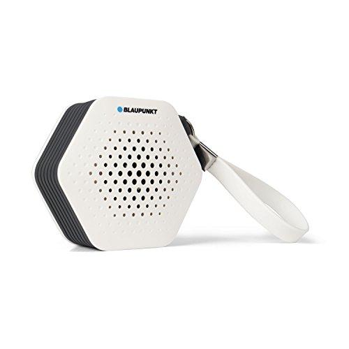 Blaupunkt SRB 10 – kleines und tragbares Badradio, UKW/FM PLL, Bluetooth Musik Streaming und Aux In, automatische Senderspeicherung, Freisprech-Funktion, Duschradio und Badezimmer-Radio mit IXP5