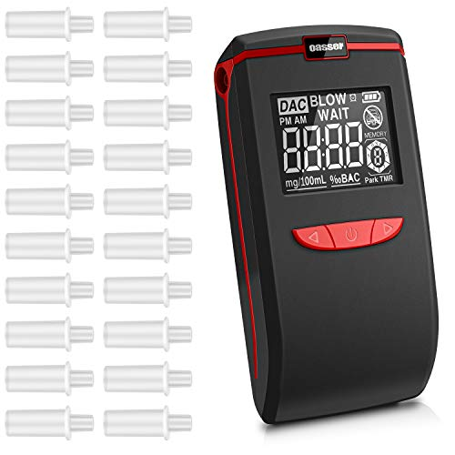 oasser Alkoholtester Tragbar Halbleiter Sensor Atemalkoholmessgerät LCD Anzeige Promilletester Alkoholmessgeräte