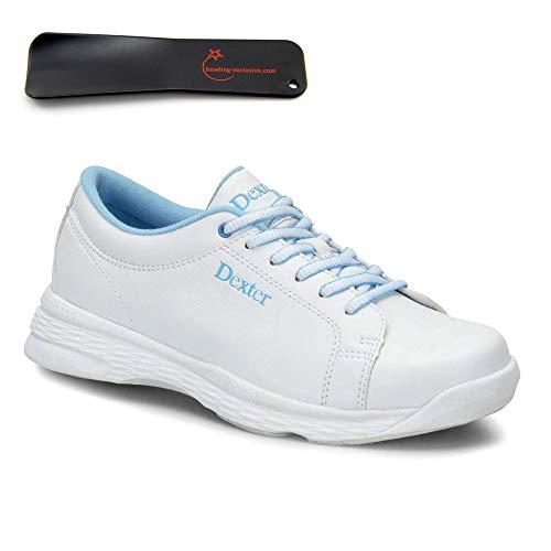 Damen Bowlingschuhe Dexter Raquel V White Blue inkl. Schuhanzieher (39)