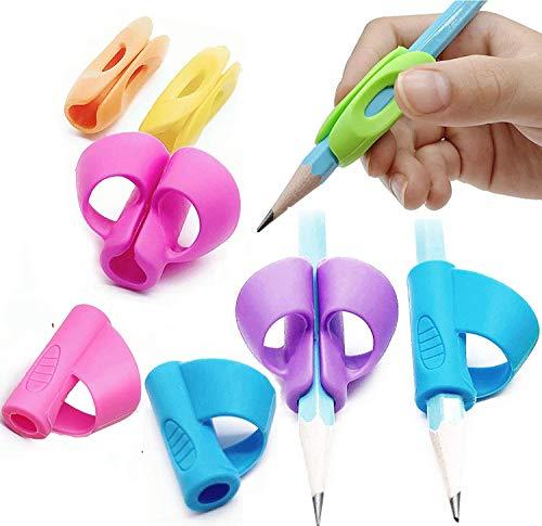 8x Schreibhilfe für Stift Kinder - Schreiblernhilfe Grip Schreiblernstift Bleistift...