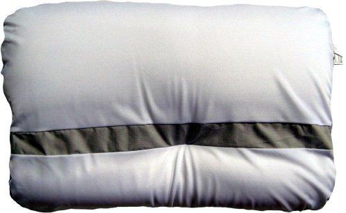 Snuggle Plus Bettkissen 60 x 40 cm, grau/weiß, formstabil und leicht, universell einsetzbar, für Allergiker geeignet