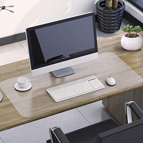 NATRKE Schreibtischunterlage transparent - 80 x 40 cm - klare durchsichtige Schreibunterlage - Unterlage - Tischschoner - Schreibmatte