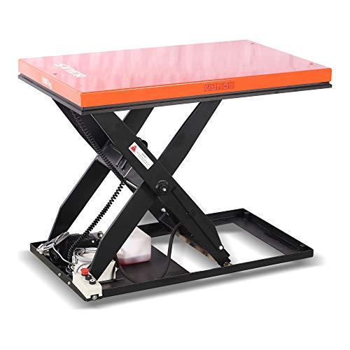 STIER Scheren-Hubtisch, 500 kg Traglast, elektrisch, Max. Hubhöhe 1010 mm,...