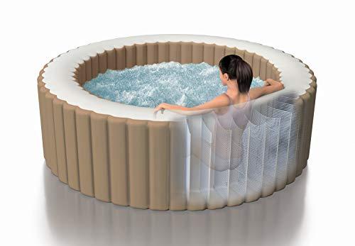 Intex Whirlpool Pure SPA Bubble Massage - Ø 216 cm x 71 cm, für 6 Personen, Fassungsvermögen 1.098 l, beige, 28428