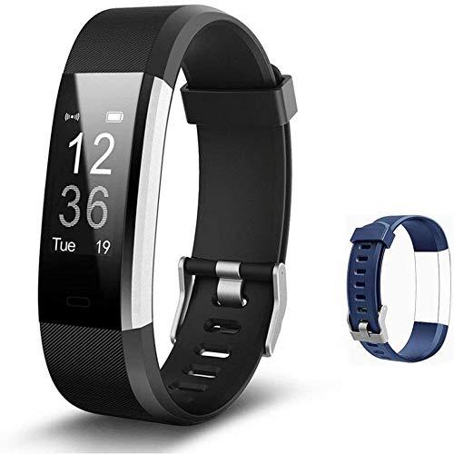Lintelek Fitness Tracker Herzfrequenzmesser Aktivitätstracker IP67 Wasserdicht