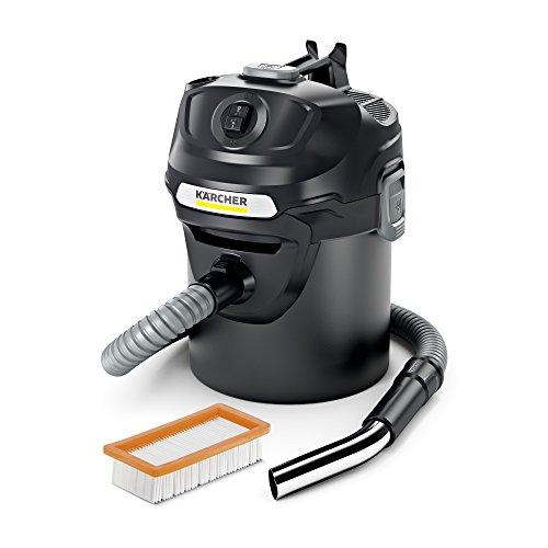 Kärcher AD 2 Aschesauger und Trockensauger (mit Filterreinigung, 14-Liter-Metallbehälter, Reinigung ohne Schmutzkontakt)
