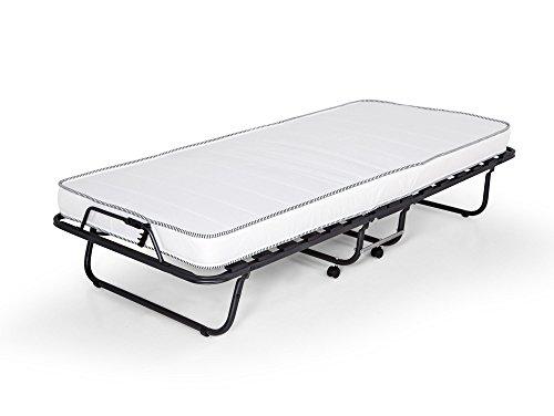 Gästebett Celine mit stabilem Metall-Rahmen Klappbett Faltbett bis 100 kg inklusive Matratze