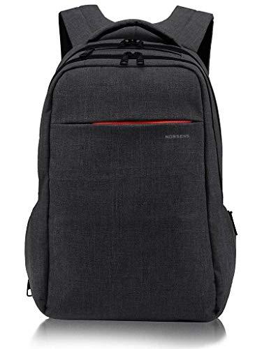 Norsens NS3130B Laptop Backpack (geignet für bis zu 15,6-Zoll-Laptops/Notebook) Schwarz