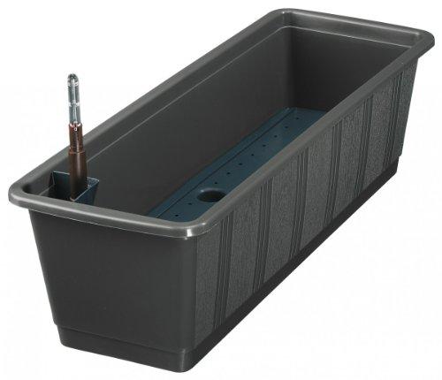 Geli 837 100 38 Bewässerungskasten Aqua 100 cm, anthrazit mit Wasserstandanzeige