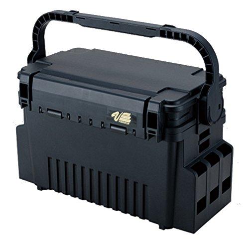 Meiho VS-7070 schwarz 35,6x18,6x21cm - Tacklebox für Kunstköder & Angelzubehör, Angelbox für Tackle, Köderbox, Angelkasten