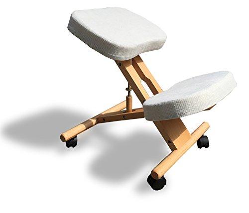 cinius Oekonomische Ergonomischer Stuhl Orthopädischer Kniestuhl Computerstuhl Kniehocker Stoff Natural Farbe