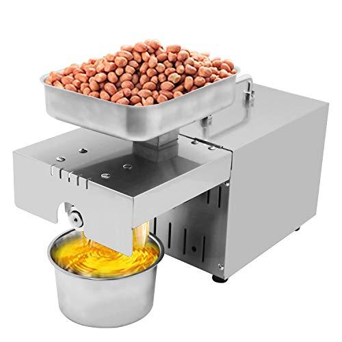 Huanyu 1500W ätherisches Ölpresse Maschine ≥90% Hohe Ölausbeute Extraktor Heiß- und Kaltextraktor Öl Pressmaschine mit 45 ° -130 ° Automatische Konstanter Thermostat