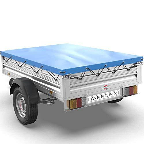 Tarpofix® Anhängerplane als Flachplane in blau extra randverstärkt für mehr Sicherheit