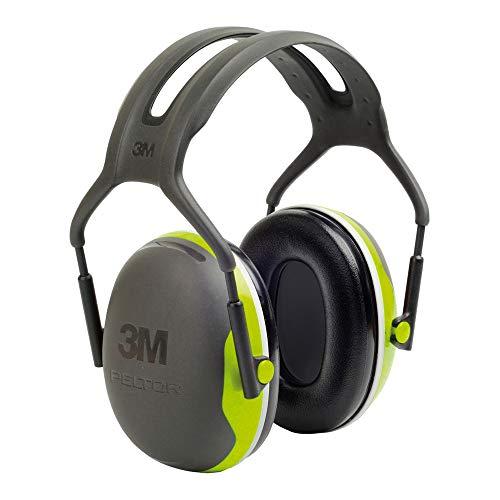 3M Peltor Kapselgehörschutz X4A neongrün - Gehörschützer mit verstellbarem...