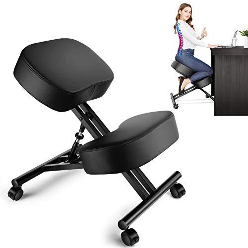 Kniestuhl Ergonomischer, Haltungskorrekturstuhl, verstellbarer Hocker für Zuhause und Büro, lindert Rücken- und Nackenschmerzen, verbessert die Körperhaltung