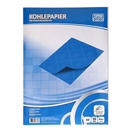 TIPTOP OFFICE Kohlepapier für Handschrift, Blau