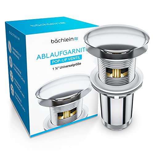 Bächlein Universal Ablaufgarnitur mit Überlauf für Waschbecken & Waschtisch -...