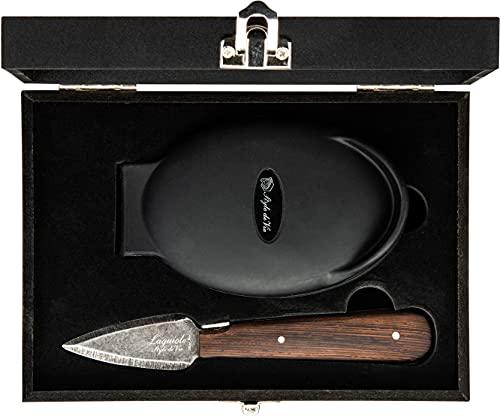 Laguiole Style de Vie Austernmesser Luxury Line, Wenge Holz, mit Austernhalter