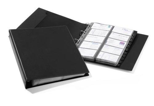 Visitenkartenringbuch Visifix A4 Economy für 400 Visitenkarten in schwarz
