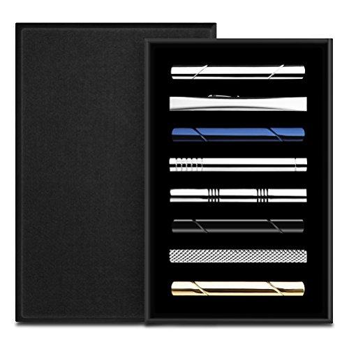 HBselect 8er Set Krawattenklammern für alle Anlässe
