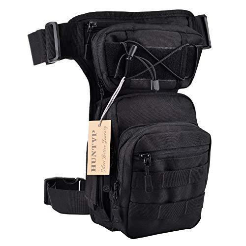 HUNTVP® Taktisch Beintasche Militär Beinbeutel MOLLE Hüfttasche Sport Tactical Leg...