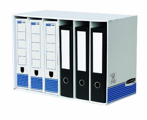 Bankers Box System Ordnerarchiv Modul (6 Fächer) 1 Stück blau/weiß