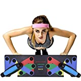 Hihey 9 in 1 Push Up Rack Board System Fitness Workout Training Gym Übungsständer für Home Fitness Training