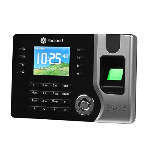 Realand AC071 2.4' biometrischer Fingerabdruck-Anwesenheits-Maschine, TFT, LCD Display, Schwarz