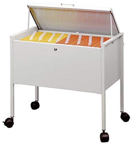 Mappenwagen Eco für circa 80 A4-Mappen mit Deckel in grau