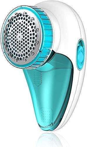 Aerb Fusselrasierer Elektrisch, Fusselentferner mit USB Kabel, Reinigungsbürste, Edelstahlklinge und 2 Geschwindigkeit Einstellbar für Zuhause & Reisen(Blau)