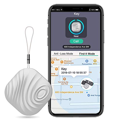 BEBONCOOL Schlüsselfinder, Key Finder Kompatibel mit iOS / Android, Schlüssel Finder mit Bidirektionalem Alarm / Silent Mode, Multifunktionaler Keyfinder, Smart One Touch Find Schlüsselfinder Gps
