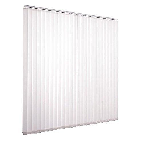 Ventanara Lamellenvorhang weiß Vertikaljalousie 89mm inklusive Montagematerial 300 x 180 cm