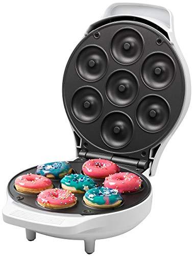 Rosenstein & Söhne Küchenmaschine: Mini-Donut-Maker, antihaftbeschichtet, 1.000 Watt (Donut-Waffeleisen)