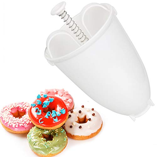 Kunststoff Donut Maker DIY Werkzeug Donut Form Dispenser Donut Backform Teigspender Teigportionierer Batter Dispenser Tragbare Donut Maker Donut Maker Dispenser für DIY Waffel Donut Backen Werkzeug